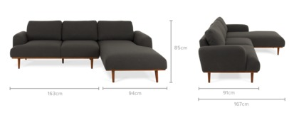 dimension of Henri Sofa Sectional