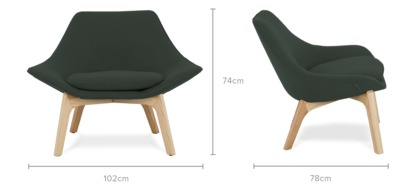 dimension of Gable Low Armchair