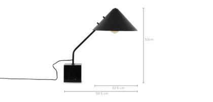 dimension of Neil Table Lamp