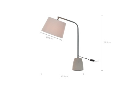 dimension of Norman Table Lamp