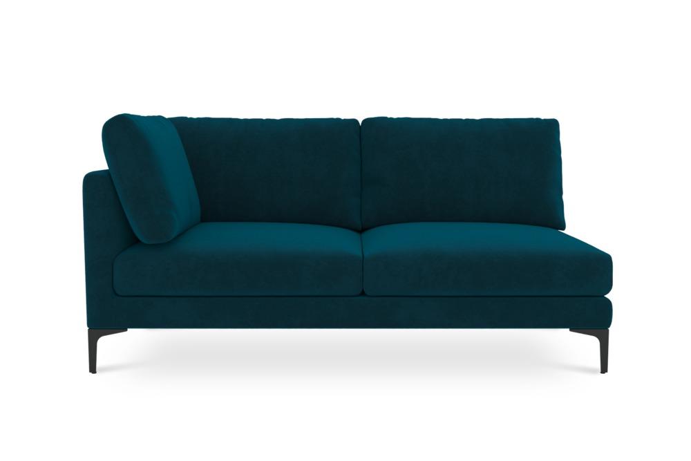 Adams 2-Seater Left Facing, Turquoise (Black Leg)